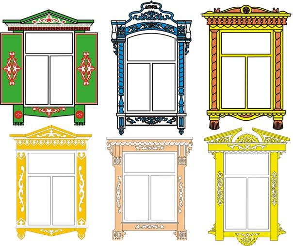 Обрамление окна рисунком