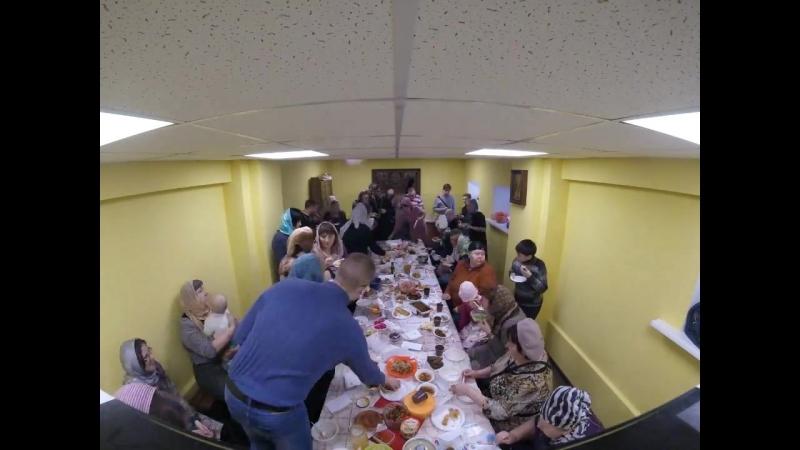 Фестиваль постной кухни в Храме прихода Воскресения Христова (2018-03-18, Timelapse)