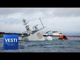 Completely SUNK Incompetent NATO Sailors Crash Norwegian Frigate Into Greek Oil Tanker!