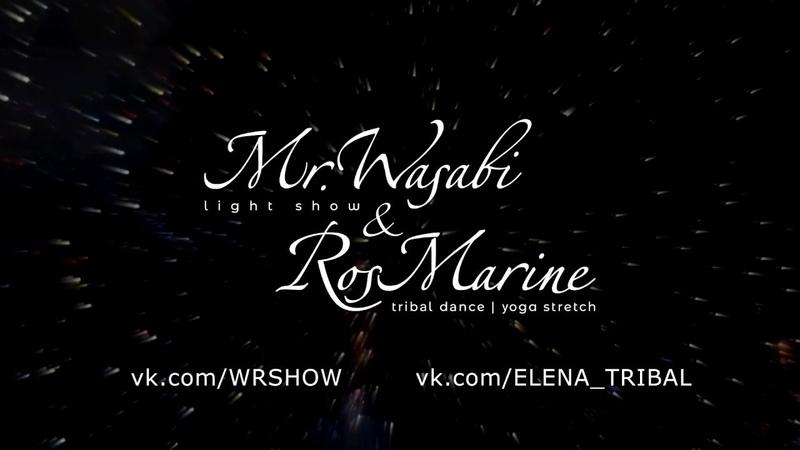 Световое шоу Mr. Wasabi и RosMarine на свадьбе Эльзы и Дениса