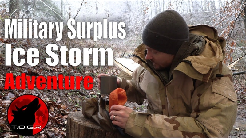Military Surplus Forest Adventure In An Ice Storm