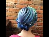 Модное окрашивание в стиле мальвины или русалочки. Нежная причёска.