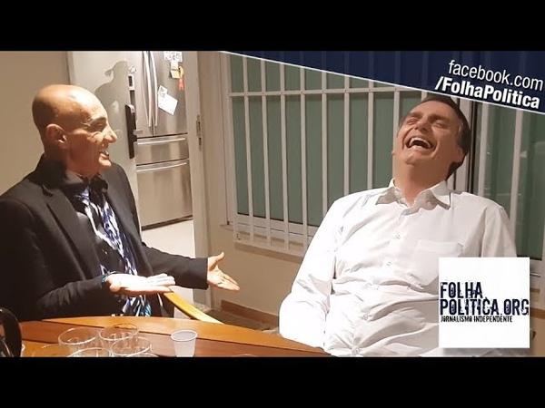 Ao ser visitado por Amin Khader, Bolsonaro desabafa sobre 'fake news' e se diverte com conversa