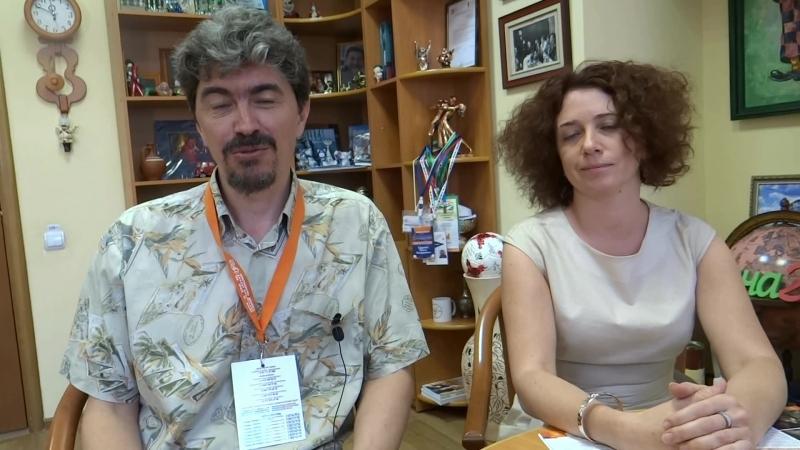 Эксперты Золотой маски - А.А. Вислов и Т.С. Джурова
