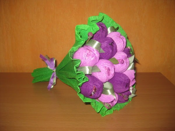 Оформление букета из конфет своими руками