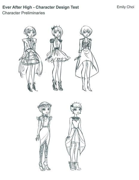 Poppy O\'Hair Character Design Test Sheets - Monster High Dolls .com