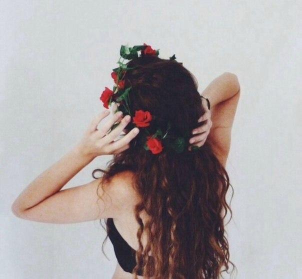 Цветочный ободок -