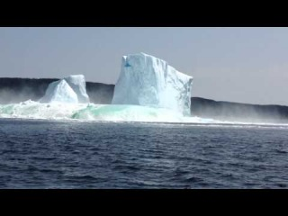 Video 4 of 5: ICEBERG COLLAPSE: Newfoundland, Canada. Also, www.flickr.com/photos/125843901@N08