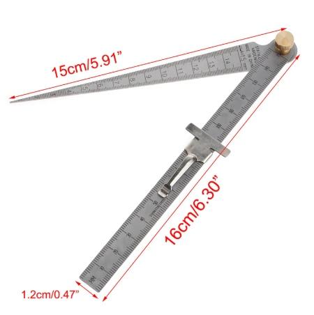 Линейка с щупом для измерения диаметра отверстий