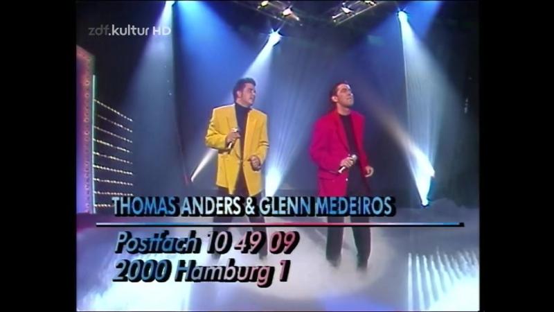 Thomas Anders Glenn Medeiros - Standing Alone (Hitparade - ZDF Kultur HD 1992 nov26) (1)