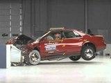 2000 Cadillac Seville moderate overlap IIHS crash test