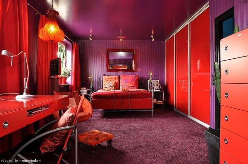 Красный цвет в дизайне квартир