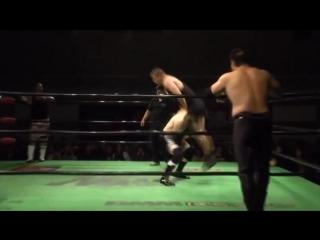 Akitoshi Saito, Hi69, Yoshinari Ogawa vs. Masao Inoue, Tadasuke, Yoshiki Inamura (NOAH - Global Junior League 2018 - Day 8)