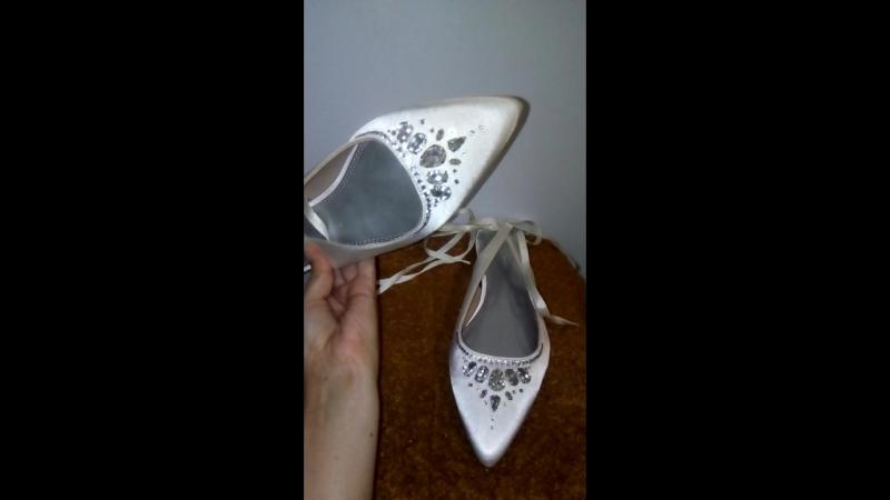 инкрустация свадебных туфелек