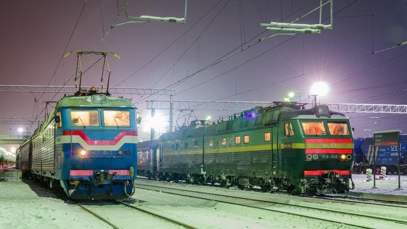 ZDSimulator ЧС7 043 ЧС8 045 с международным поездом №23Ч Москва Париж по участку Москва Орша