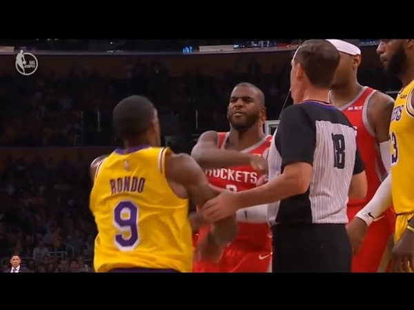 Chris Paul and Rondo Gets in a Fist Fight Brandon Ingram