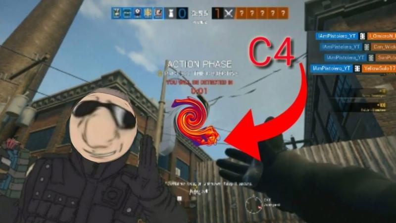 INSANE C4 spawn peeking montage with pulse Rainbow Six Siege
