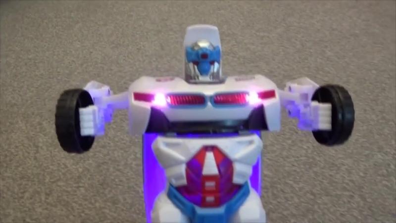Машинка-трансформер Робот BMW интерактивная на батарейках (ездит, свет, звук) тр