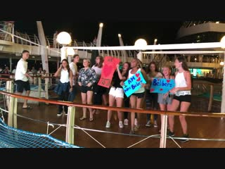 The Youth onboard MSC Divina Perform during the White Party January 17, 2019