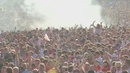 30,000 fans in Hyde Park celebrate England goal in World Cup semi-final