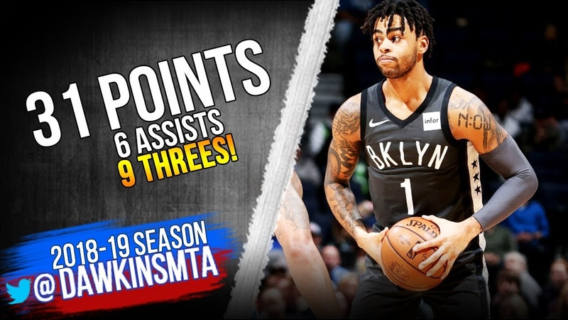 DAngelo Russell Full Highlights 2018.11.12 Nets vs TWolves - 31 Pts, 9 Threes! | FreeDawkins
