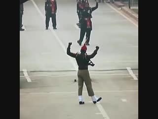 This India-Pakistan border ceremony