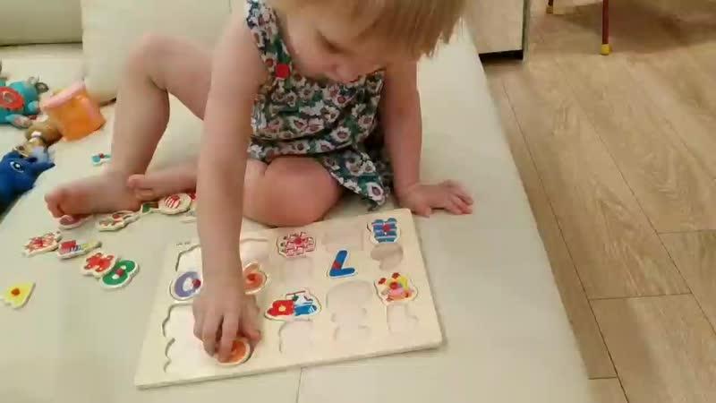 Одна из новых игрушек, учимся её собирать, разные эмоции, но схватываем всё на лету😁😄