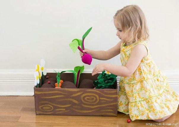 Фетровая грядка для детей