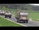 Mehr als 700 Panzer Humvees und Lkw der US Armee unterwegs zwischen Grafenwöhr und Hohenfels