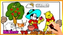 Mickey Mouse Pooh Bear Coloring Pages | Painting and Drawing For Kids Vs Jolly Toy Art ☆ 254