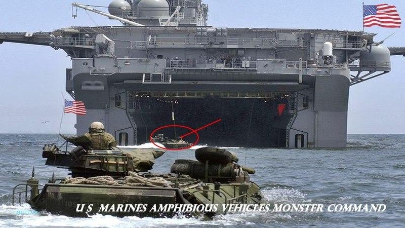 U S Marines Amphibious Vehicles MOnster command