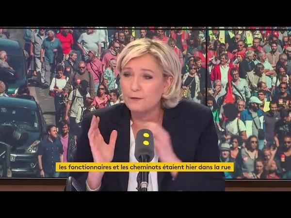 M. Le Pen attaque Aphatie, vous êtes un petit type de droite borné !