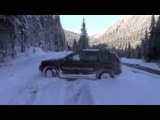 Renault Duster  видео-тест на проходимость. Шурмует снег и лед