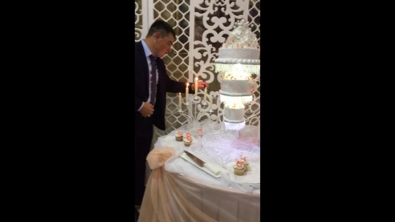 Свадьба Лены и Антона❤️ Закулисная съёмка оригинального торта💥
