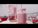 Shake with strawberry flavor