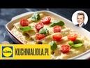 🍅 Włoskie cannelloni z mięsem w sosie porowym Karol Okrasa Przepisy Kuchni Lidla