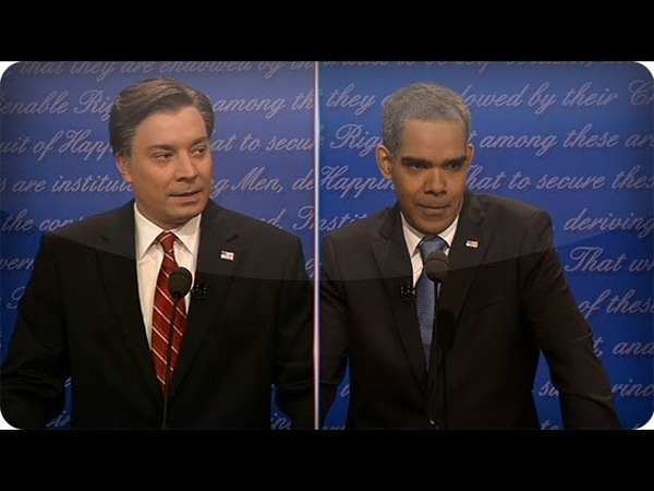 Romney Obama Tell Jim Lehrer Shut The F*** Up (Late Night with Jimmy Fallon)