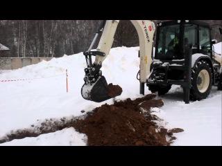 Тест-драйв экскаватора-погрузчика Terex TLB840 в Химках