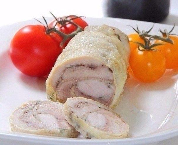 Замена колбасе — куриный рулет