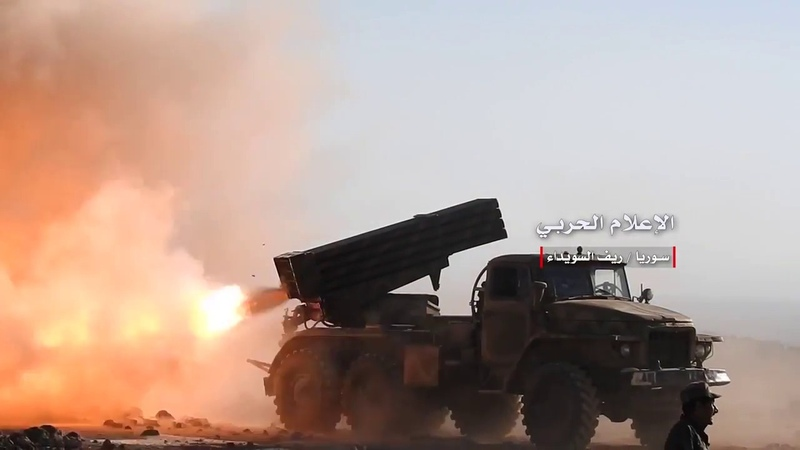 Of the operations of the Syrian army and its allies in rural Swaida