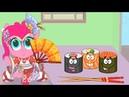 Обновление ИГРЫ. Суши в доме карманной пони в мультике игре для детей.My little pony