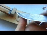 Брусок для заточки ножей из досточки и шкурки
