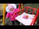 Baby play at the playground Каролина на детской площадке вместе c Полиной