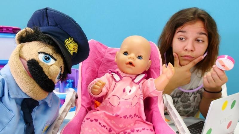 Doktor Sema kayıp Baby Born için polis çağırdı Kız oyunları
