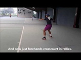 Tennis Drills - Corrective Drill - Moving the Racket through the Ball on Forehand