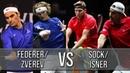 Federer/Zverev Vs Sock/Isner - Laver Cup 2018 (Highlights HD)