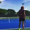 "Victoria Kan on Instagram: ""Skillzzz🎾 FCBWorld fan barca fcbarcelona tennis football skills miami summer memories tbt circus nike loriet coordinat"