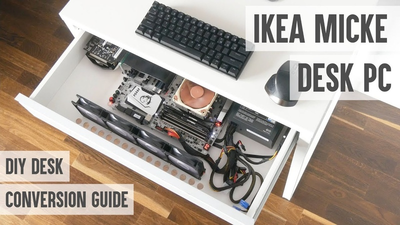 How to make a desk PC from IKEA MICKE desk - probably the cheapest DIY desk PC