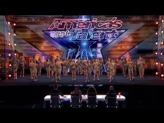 Sensational Dance Crew Get Tyra Banks GOLDEN BUZZER on Americas Got Talent _ Go