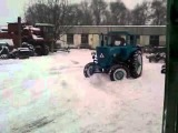 Зимой на Тракторе
